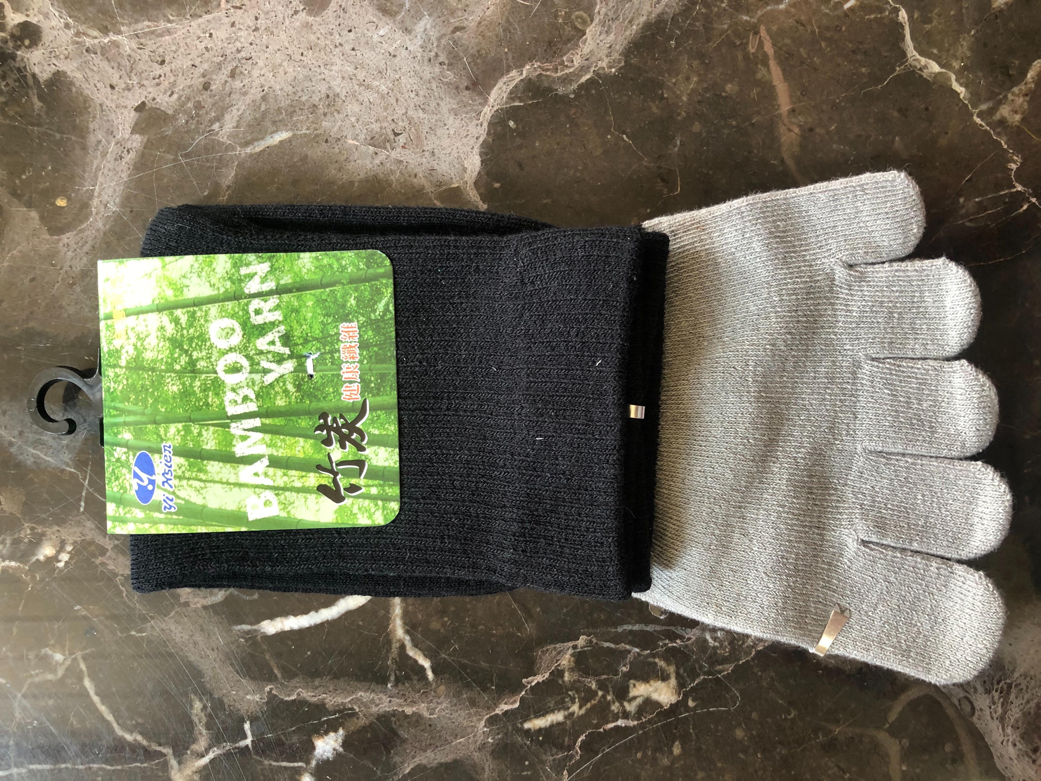 竹炭健康五趾襪100元